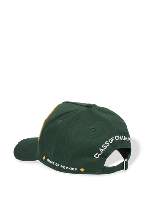 Logo Patched Baseball Cap in Green DSQUARED2
