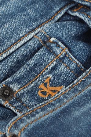גילאי 4-16 מכנסי גינס סקיני בשטיפת אינדיגו CALVIN KLEIN