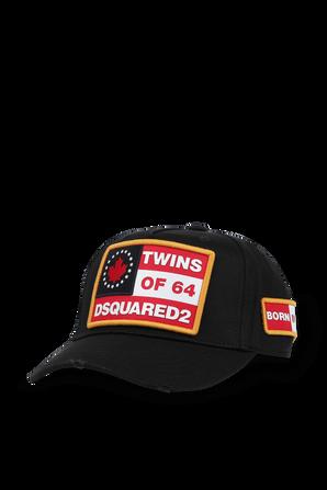 D2 Patch Cap in Black DSQUARED2