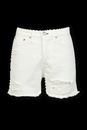 Maya High-Rise Shorty Short in White RAG & BONE
