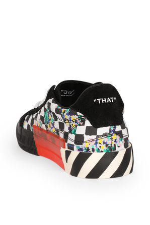 Checked Vulcanized Sneakers in Black OFF WHITE