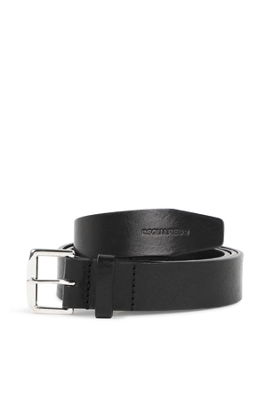 Buckle Belts in Black Leather DSQUARED2