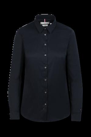 חולצה מכופתרת בגזרת סלים בצבע שחור TOMMY HILFIGER
