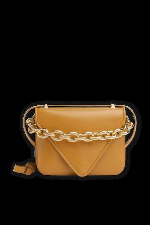 Medium Mount Leather Bag in Brown BOTTEGA VENETA