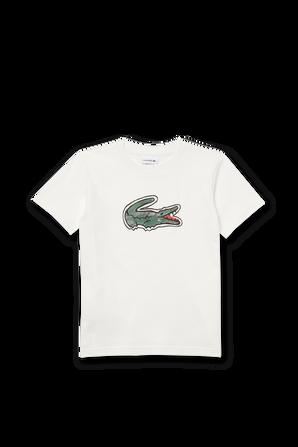 גילאי 2-12 טישירט לוגו גדול בלבן LACOSTE KIDS