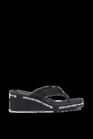 Wedge Flip Flops in Black ALEXANDER WANG