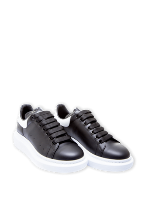 Exaggerated-Sole Leather Sneakers ALEXANDER MCQUEEN