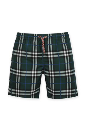 Martin Boxer Boardshorts in Plaid Green BURBERRY