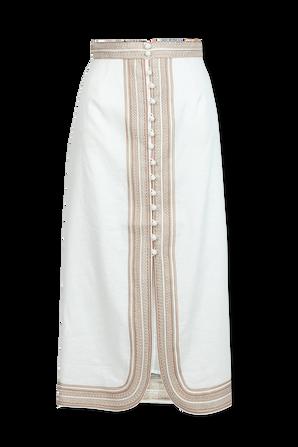 Cassia Corded Skirt in Ivory ZIMMERMANN