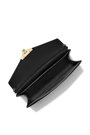 Grace MD Patent Leather Envelope Clutch in Black MICHAEL KORS