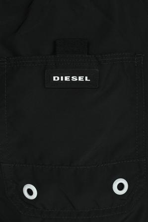 Logo Sweat Shorts in Black DIESEL