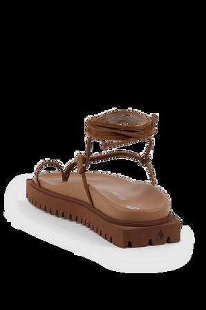 Cigar Renee Sandals in Brown THE ATTICO