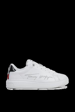 נעלי סניקרס לבנות עם חתימת המעצב TOMMY HILFIGER