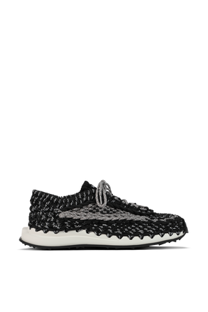 Cotton Knit Sneakers in Black and Grey VALENTINO