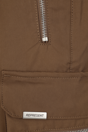 Zip Pockets Shorts in Brown REPRESENT