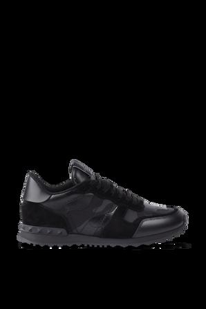 Camoflage Noir Rockrunner Sneakers in Black VALENTINO