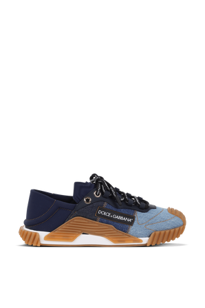 Denim Paches Slip Over Sneakers With Rubber Soles DOLCE & GABBANA