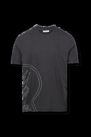 Logo T-Shirt in Black MONCLER
