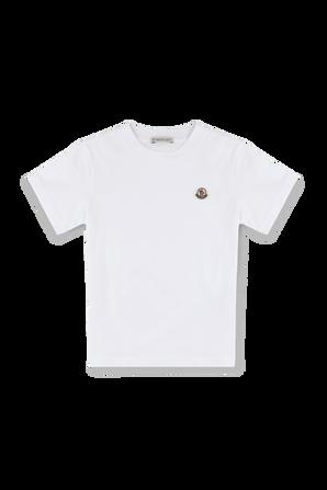 גילאי 8-10 חולצת טי עם פאצ לוגו בחזית MONCLER KIDS