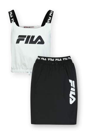 Fashion Logo Skirt Set in Black FILA