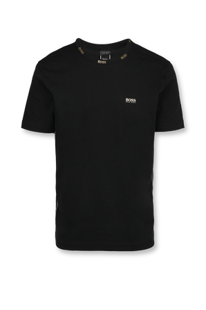 Black T-Shirt With Gold Details BOSS