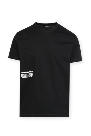Silicon Logo T-Shirt in Black DSQUARED2