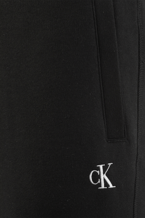 Fleece Logo Joggers in Black CALVIN KLEIN