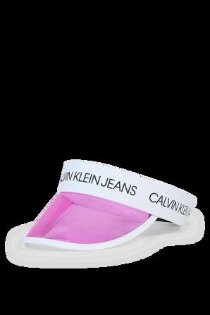 מצחייה ורודה עם לוגו CALVIN KLEIN