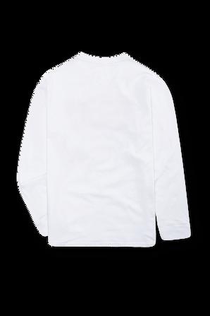 גילאי 4-7 חולצת טי ארוכה בלבן עם לוגו אדום בחזית LEVI`S KIDS