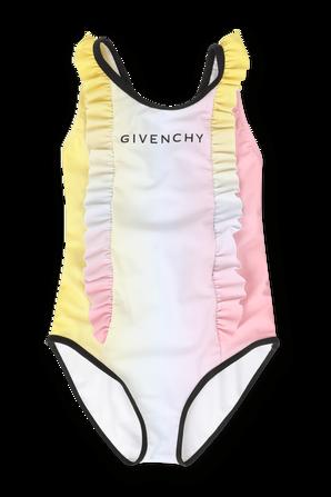 גילאי 6-12 בגד ים לוגו בגווני פסטל GIVENCHY KIDS
