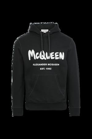 Logo Strap Polo Shirt in Black ALEXANDER MCQUEEN