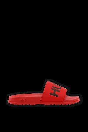 Logo Slides in Red HUGO