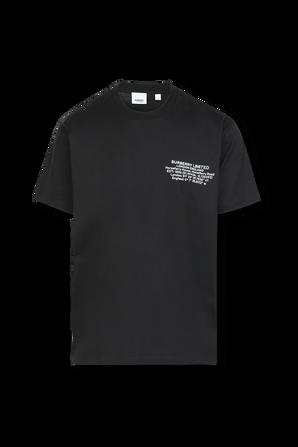 Contrast Print T-Shirt in Black BURBERRY