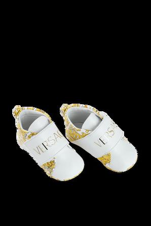 נעלי תינוקות בהדפס בארוק VERSACE KIDS