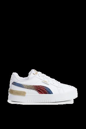 מידות 34-35 נעלי סניקרס ג'דה בצבע לבן  PUMA KIDS