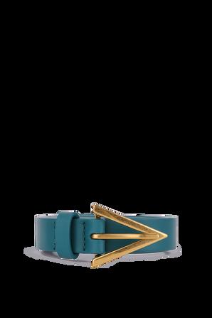 Triangle buckle Belt in Turquoise BOTTEGA VENETA