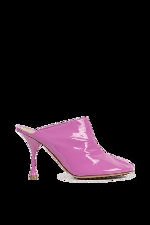 Slip On Leather Pumps in Pink BOTTEGA VENETA
