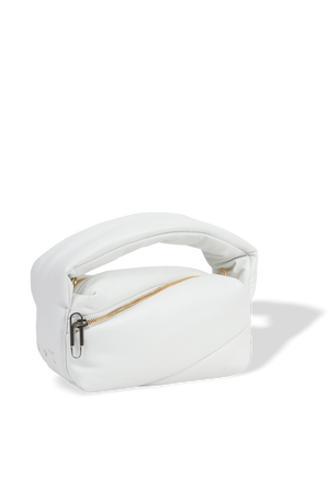 תיק פאמפ פאוץ' בגוון לבן OFF WHITE
