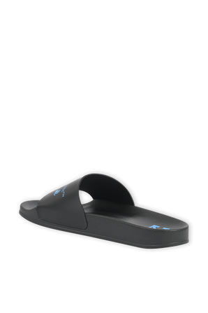 OW Logo Slider in Black and Blue OFF WHITE
