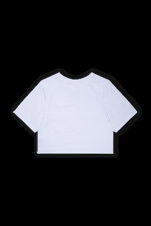 גילאי 2-4 חולצת טי קרופ בלבן עם לוגו אדום בחזית LEVI`S KIDS