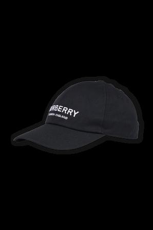 Burberry Logo Cap In Black BURBERRY