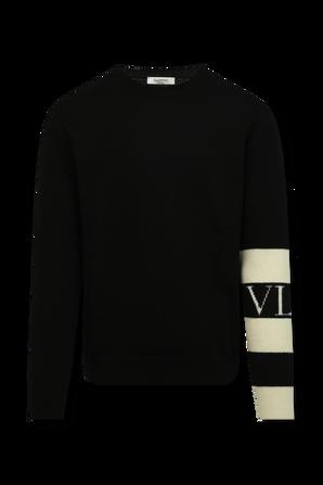 VLTN Wool Sweater in Black VALENTINO