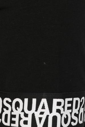 Basic Number Print T Shirt in Black DSQUARED2