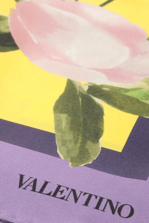 Flower Silk Scarf in Multicolor VALENTINO