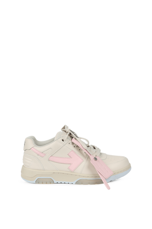 Pink And Beige Out Of Office Sneakers OFF WHITE