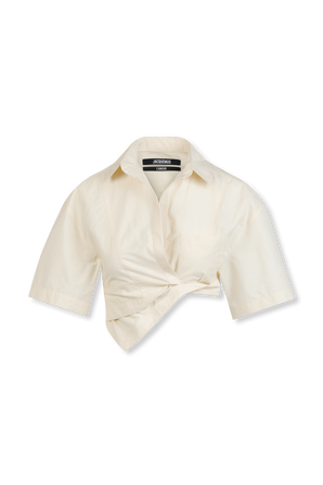 Boxy Shirt in Off-White JACQUEMUS