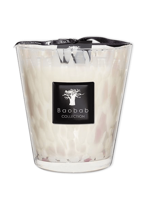 Max 16 White Pearls Candle BAOBAB