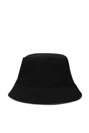 Reversible Bucket Hat in Black and White KENZO