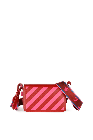 Leather Crossbody Bag in Red OFF WHITE