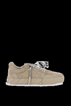 נעלי סניקרס מעור זמש בצבע בז' OFF WHITE
